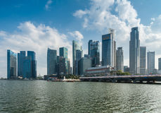 Panorama of Singapore Central Business District (CBD) Royalty Free Stock Image