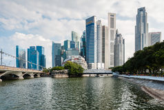 Panorama of Singapore Central Business District (CBD). Stock Photos