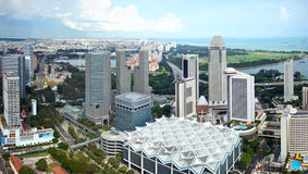 Panorama Of Singapore City Royalty Free Stock Photos