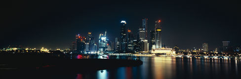 Panorama on Singapore city Royalty Free Stock Image