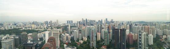 Panorama Of Singapore City Stock Images