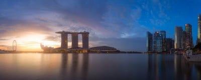 Panorama of Singapore city Royalty Free Stock Image