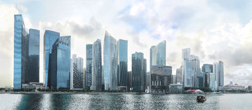 Panorama of Singapore Downtown Stock Image