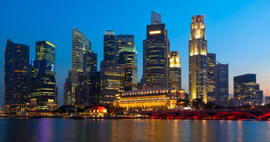 Panorama of Singapore downtown Stock Photos