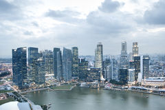 Singapore from above Royalty Free Stock Photography