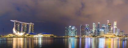 Panorama Singapore at night Royalty Free Stock Photography