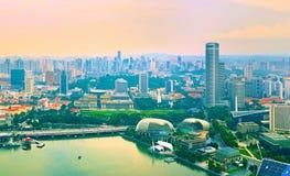 Panorama of Singapore Stock Photos