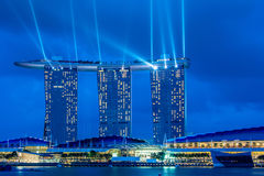 Panorama of Singapore Stock Photography
