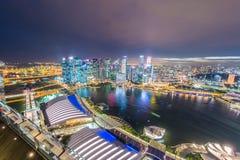 Panorama of Singapore skyline downtown Stock Photo