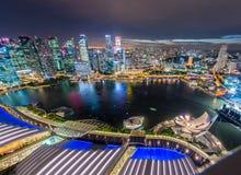 Panorama of Singapore skyline downtown Royalty Free Stock Photo