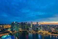 Panorama of Singapore skyline downtown Stock Image