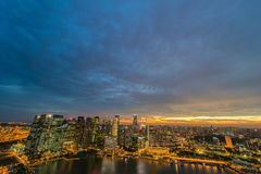 Panorama of Singapore skyline downtown Stock Photography