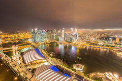 Panorama of Singapore skyline downtown Royalty Free Stock Images