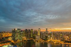 Panorama of Singapore skyline downtown Stock Images