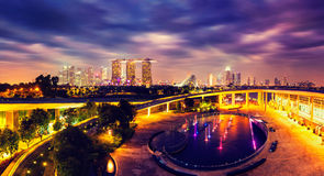 Panorama of Singapore skyline Royalty Free Stock Images