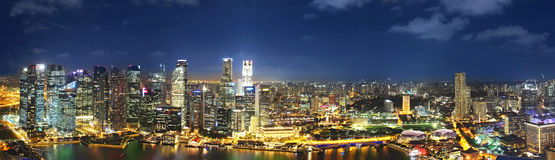 Panorama of singapur Royalty Free Stock Images