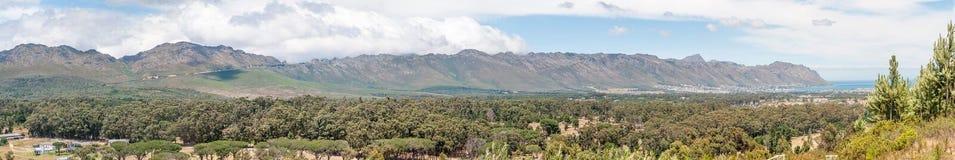 Panorama of Sir Lowreys Pass and Gordons Bay Royalty Free Stock Photo
