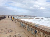 Panorama Siracusa. View from sea stock photo