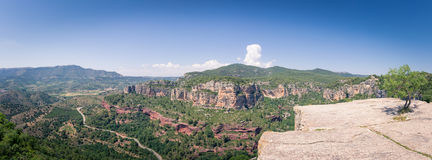 Panorama of Siurana, Catalonia, Spain Stock Image