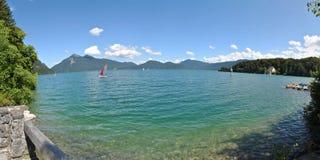 Panorama sjö Royaltyfri Bild