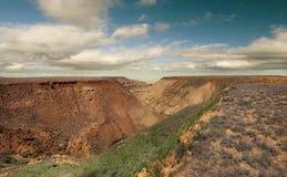 Panorama skłonów plateau Ustyurt Obraz Royalty Free