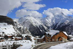 Panorama of the Ski Areas, Les Deux Alpes, France, French Stock Photo