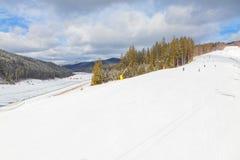 Panorama of ski resort Stock Photography