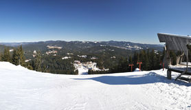 Panorama of ski resort Pamporovo Royalty Free Stock Photo