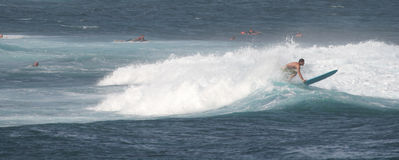panorama skjuten surfingbrädasurfare royaltyfri bild
