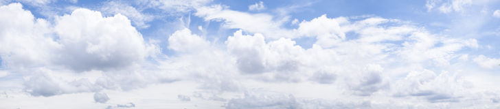 Panorama skly and cloud. Royalty Free Stock Image