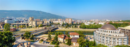 Panorama of Skopje from the fortress Royalty Free Stock Images