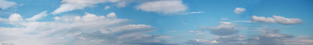 Panorama of sky Royalty Free Stock Image
