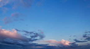 Panorama of the sky Stock Image