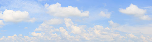 Panorama sky and cloud. Stock Image