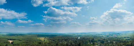 Panorama sky cloud and forest. Stock Photography