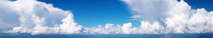 Panorama Sky and cloud / with rain fall / high res. Olution landsacpe Stock Image