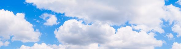 Panorama sky and cloud in summertime beautiful background.  royalty free stock image