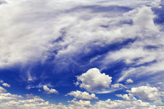Panorama of the sky with clouds Stock Photo