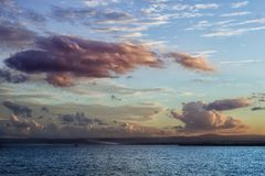 Panorama of a sky with clouds and very beautiful colors Royalty Free Stock Images