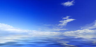 Panorama of sky and sea Royalty Free Stock Images