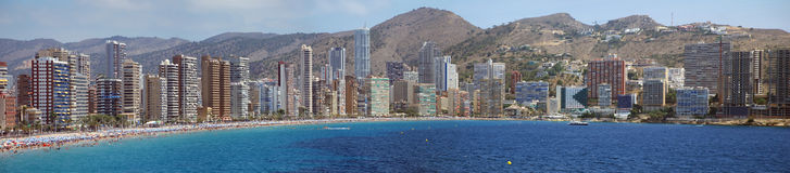 Panorama Skyline Benidorm Royalty Free Stock Image