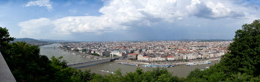 Panorama skyline Danube Budapest Hungary Royalty Free Stock Photos