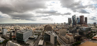Panorama skyline of downtown Los Angeles Stock Images