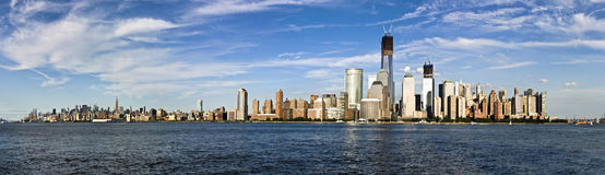 Panorama of the skyline of Manhattan, New York City royalty free stock image
