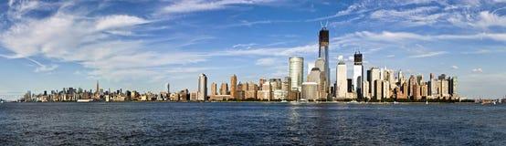 Panorama of the skyline of Manhattan, New York City Royalty Free Stock Image