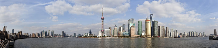 Panorama Skyline of Shanghai Stock Image