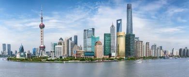 Panorama of the skyline of Shanghai, China Stock Image