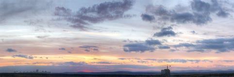 panorama- skysikt för oklarhet Arkivbild
