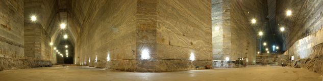 Panorama in Slanic Prahova salt mine Stock Images