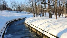 Panorama of Slavianka river in  Pavlovsk Royalty Free Stock Photography
